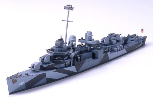 Tamiya 31907 1//700 Model Kit U.S Navy USS Fletcher-Class Destroyer DD797 Cushing
